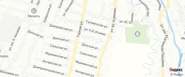 Сальская улица на карте Урус-мартана с номерами домов