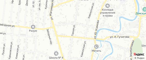 Горная улица на карте Урус-мартана с номерами домов