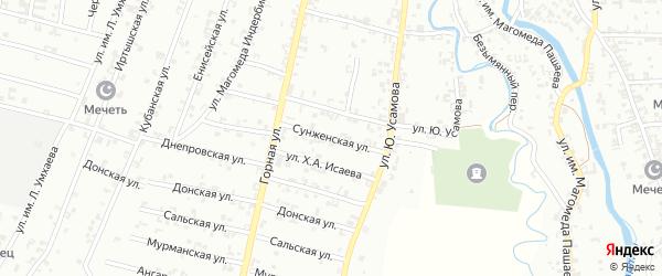 Сунженская улица на карте Урус-мартана с номерами домов