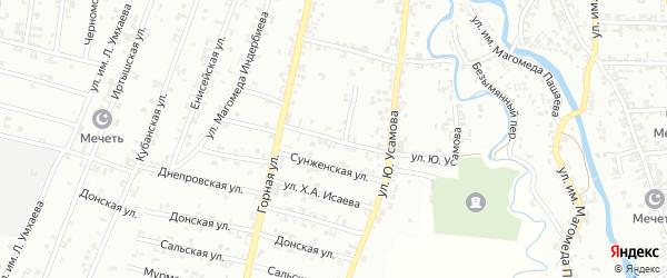 Улица 3-й Пролетарский на карте Урус-мартана с номерами домов