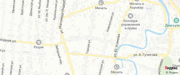 Ставропольская улица на карте Урус-мартана с номерами домов