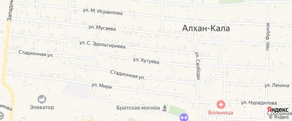 Улица А-Х.Хутуева на карте села Алхан-Кала с номерами домов