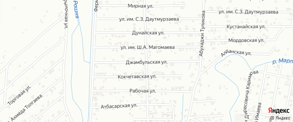 Талды-Курганская улица на карте Урус-мартана с номерами домов