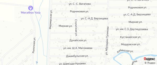 Мирная улица на карте Урус-мартана с номерами домов
