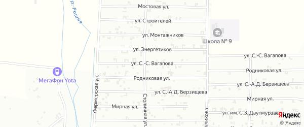 Переулок Энергетиков на карте Грозного с номерами домов