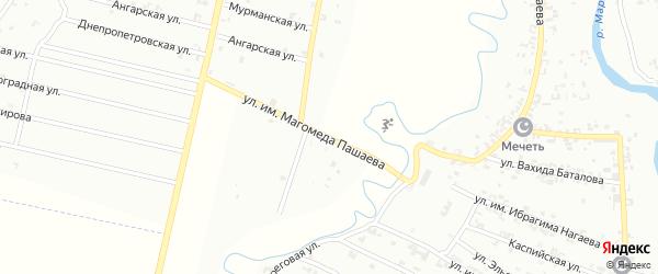 Улица имени Магомеда Пашаевича Пашаева на карте Урус-мартана с номерами домов