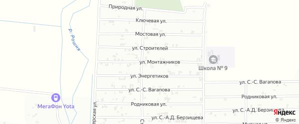 Улица Строителей на карте Урус-мартана с номерами домов