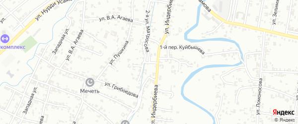 Улица 2-я Матросова на карте Урус-мартана с номерами домов