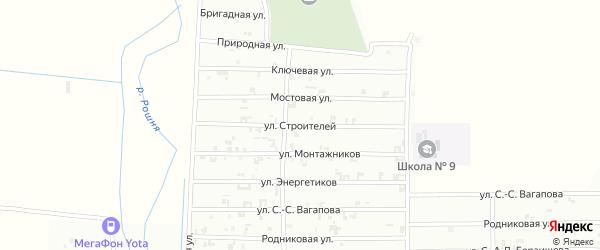 Мостовая улица на карте Урус-мартана с номерами домов