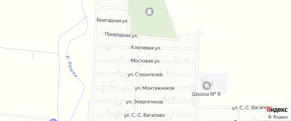 Ключевая улица на карте Урус-мартана с номерами домов
