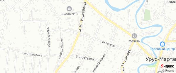 Улица Чехова на карте Урус-мартана с номерами домов