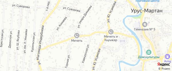 Переулок Калинина на карте Грозного с номерами домов
