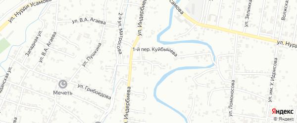 Переулок 2-й Куйбышева на карте Урус-мартана с номерами домов