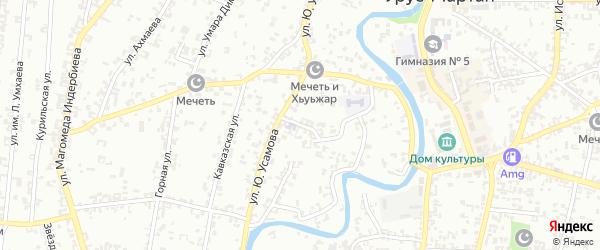 Западная 1-й переулок на карте села Гой-чу с номерами домов