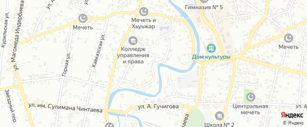Набережная улица на карте Урус-мартана с номерами домов