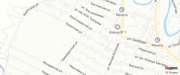 Гранитная улица на карте Урус-мартана с номерами домов