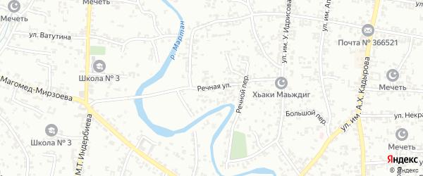 Речная улица на карте Урус-мартана с номерами домов