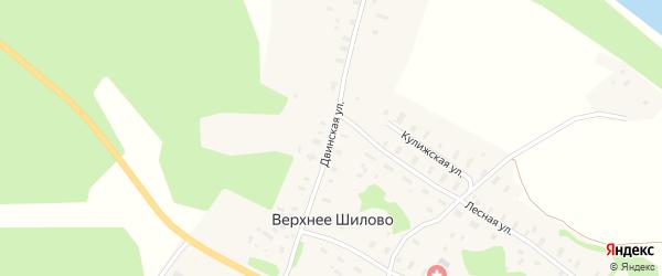 Двинская улица на карте деревни Верхнее Шилово с номерами домов
