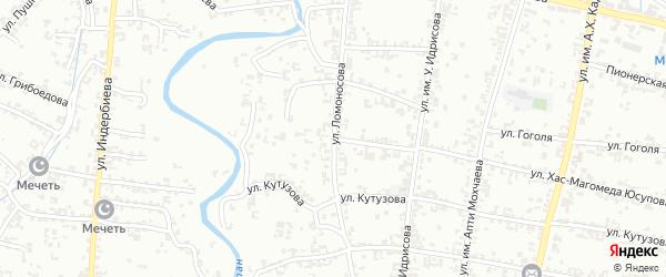Улица Ломоносова на карте Урус-мартана с номерами домов