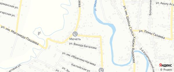 Огородная улица на карте Урус-мартана с номерами домов