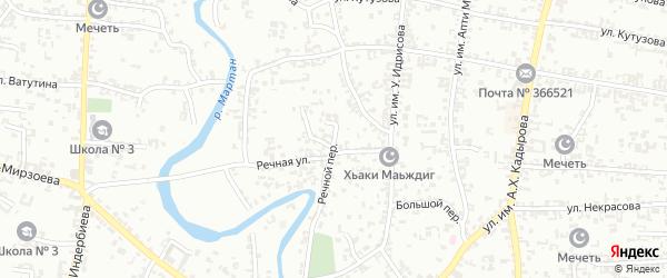 Речной переулок на карте Урус-мартана с номерами домов