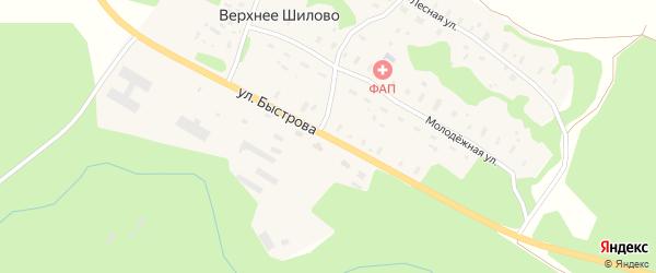 Улица Быстрова на карте деревни Верхнее Шилово с номерами домов