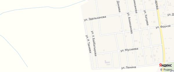 Улица Р.Такиева на карте села Алхан-Юрт с номерами домов