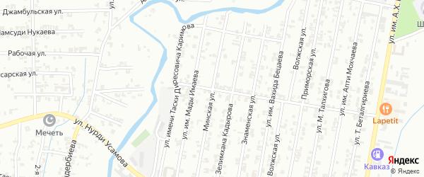 Братская улица на карте Урус-мартана с номерами домов