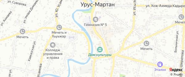 Переулок Ленина на карте Урус-мартана с номерами домов