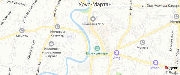 Улица имени Сайд-Ахмеда Манцигова на карте Урус-мартана с номерами домов