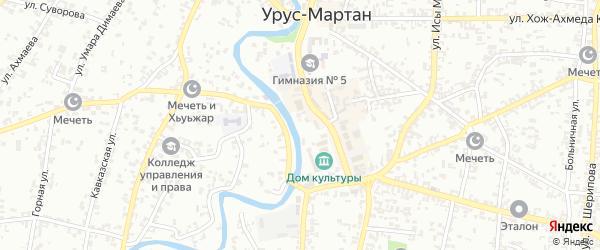 Тихая улица на карте Урус-мартана с номерами домов