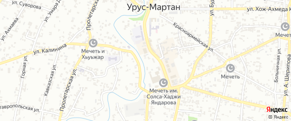 Улица Шамсуди Нукаева на карте Урус-мартана с номерами домов