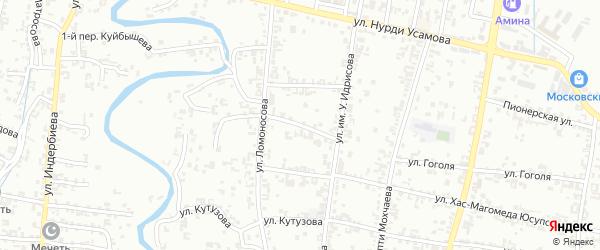 Ломоносова 2-й переулок на карте Урус-мартана с номерами домов