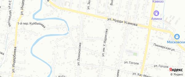 Ломоносова 1-й переулок на карте Урус-мартана с номерами домов