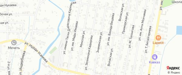Улица Зелемхана Кадырова на карте Урус-мартана с номерами домов