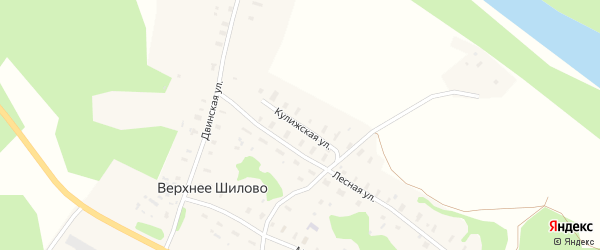 Кулижская улица на карте деревни Верхнее Шилово с номерами домов