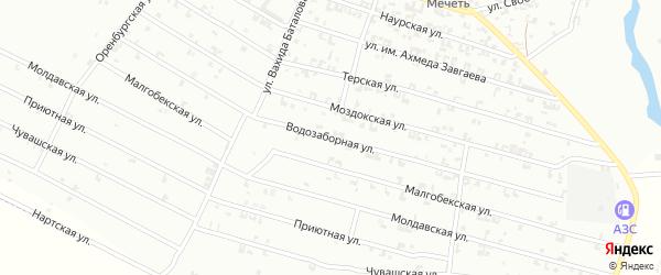 Водозаборная улица на карте Урус-мартана с номерами домов