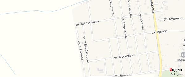 Улица А.Яхъяева на карте села Алхан-Юрт с номерами домов