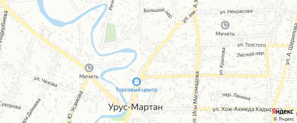 Улица имени Ахмат-Хаджи Кадырова на карте Урус-мартана с номерами домов
