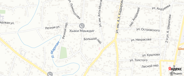 Большой переулок на карте Урус-мартана с номерами домов