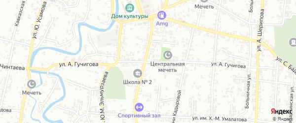 Улица Гучигова на карте Урус-мартана с номерами домов