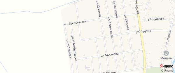 Улица Б.Гаербекова на карте села Алхан-Юрт с номерами домов