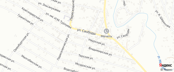 Студенческая улица на карте Урус-мартана с номерами домов