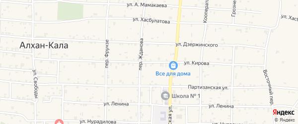 Улица Кирова на карте села Алхан-Кала с номерами домов