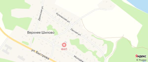 Лесная улица на карте деревни Верхнее Шилово с номерами домов