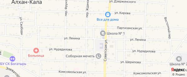 Школьный переулок на карте поселка Газгородка с номерами домов
