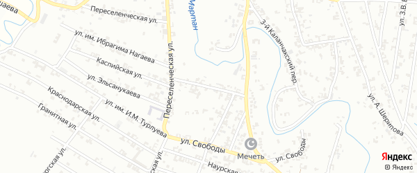 Улица Каланчакский 1-й на карте Урус-мартана с номерами домов