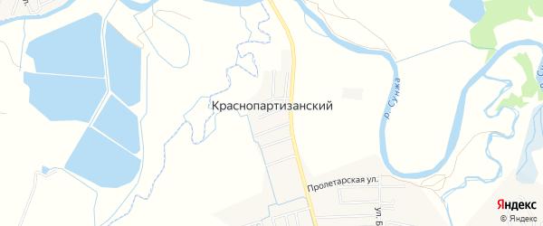 Карта Краснопартизанского поселка в Чечне с улицами и номерами домов