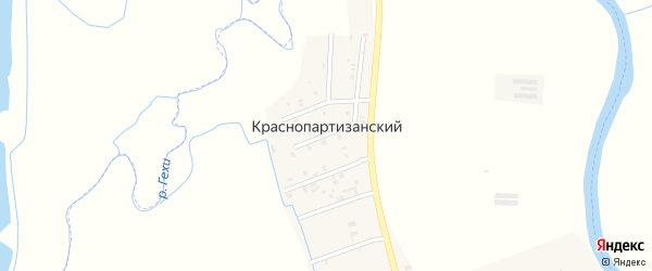 Улица А.Зелимханова на карте Краснопартизанского поселка с номерами домов