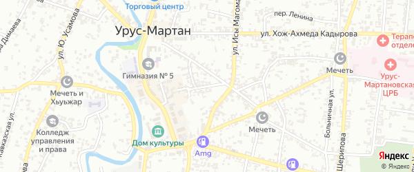 Красноармейский переулок на карте Урус-мартана с номерами домов